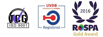 TCG ISO, UVDB Registered, 2016 ROSPA Gold Award